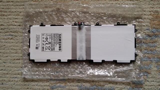 Galaxy Note 10.1(2012)バッテリを偽サイトで購入(中身)