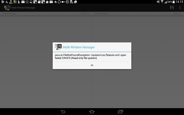MultiWindow Manager(Note 10.1)が動かない